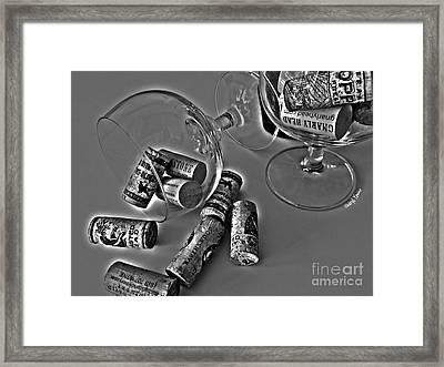Corks 3 Framed Print by Cheryl Young