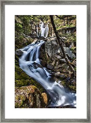 Corlieu Falls Framed Print by A A