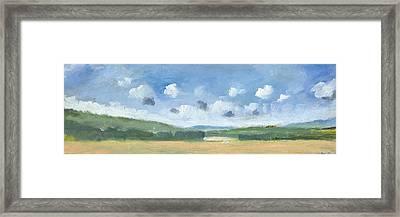 Cornfields Near Brading Framed Print by Alan Daysh