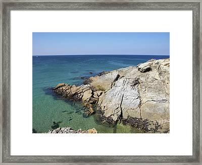Cornish Coastline Framed Print by Allan Baxter