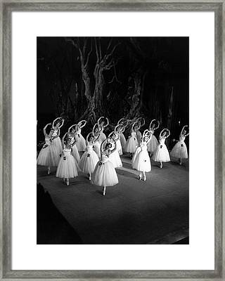 Corps De Ballet Framed Print by Baron Nahum