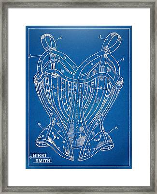 Corset Patent Series 1905 French Framed Print by Nikki Marie Smith