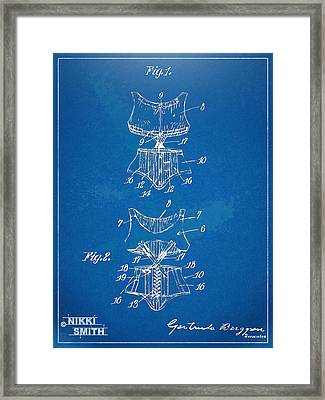 Corset Patent Series 1907 Framed Print by Nikki Marie Smith