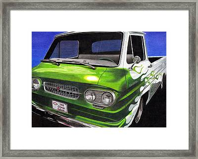 Corvair 95 Loadside Framed Print by Annie Nelson
