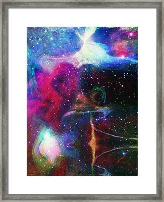 Cosmic Connection Framed Print by Linda Sannuti