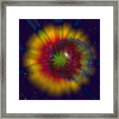 Cosmic Light Framed Print by Linda Sannuti