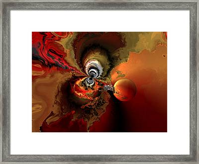 Cosmic Storm Framed Print by Claude McCoy