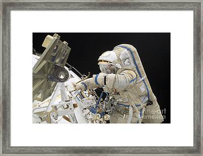 Cosmonaut Participates In A Session Framed Print by Stocktrek Images