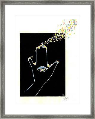 Cosmos Framed Print by Viki Vehnovsky