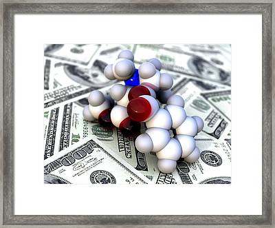 Cost Of Drugs, Conceptual Image Framed Print by Phantatomix