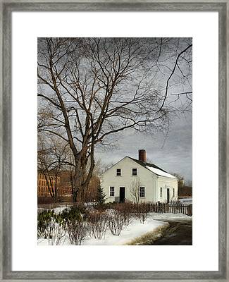 Cottage By The Mill Framed Print by Robin-lee Vieira