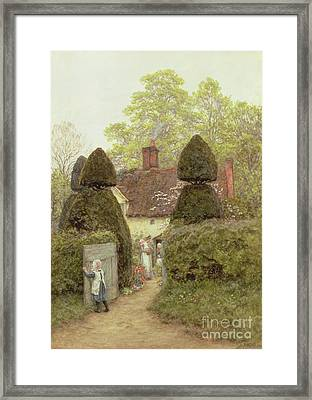 Cottage Near Pinner Framed Print by Helen Allingham