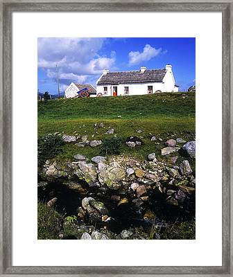 Cottage On Achill Island, County Mayo Framed Print by The Irish Image Collection