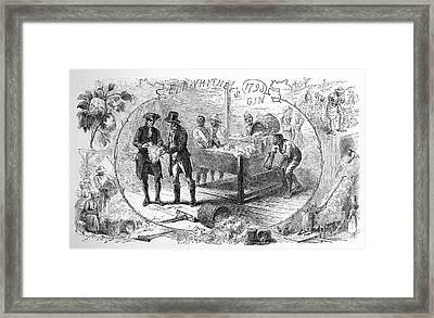 Cotton Gin, 1793 Framed Print by Granger
