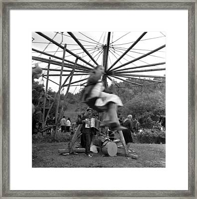 Country Fair Swings With Accordion Framed Print by Emanuel Tanjala