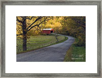 Country Lane - D007732 Framed Print by Daniel Dempster