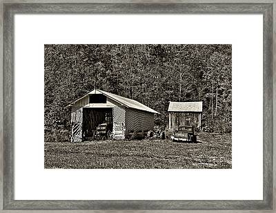 Country Life Sepia Framed Print by Steve Harrington