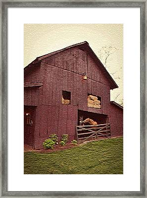 Country Living Framed Print by De Beall