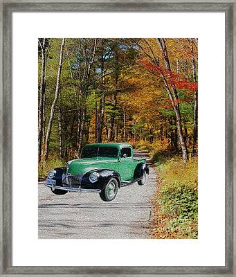 Country Roads Framed Print by Cheryl Young