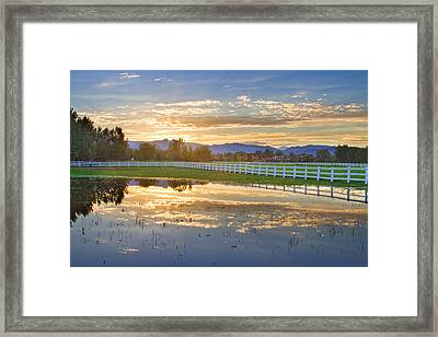 Country Sunset Reflection Framed Print by James BO  Insogna