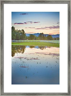 Country Sunset Reflections Framed Print by James BO  Insogna