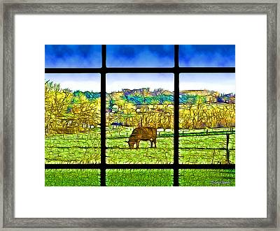 Country View Framed Print by Stephen Younts