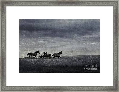 Country Wagon Framed Print by Perry Webster