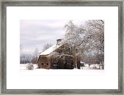 Country Winter Framed Print by Monica Lewis