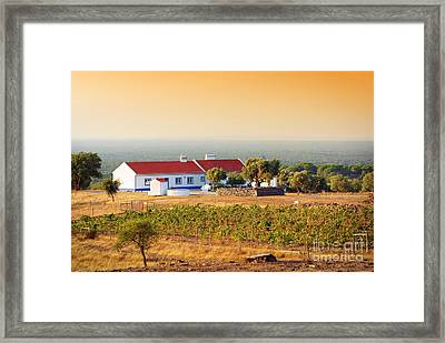 Countryside House Framed Print by Carlos Caetano