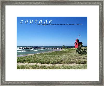 Motivational Posters Framed Print featuring the photograph Courage by Michelle Calkins