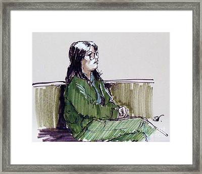 Court Observer Framed Print by Armand Roy
