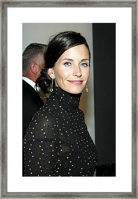 Courteney Cox At Arrivals For Kinerase Framed Print by Everett