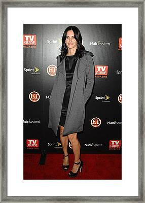 Courteney Cox At Arrivals For Tv Guides Framed Print by Everett