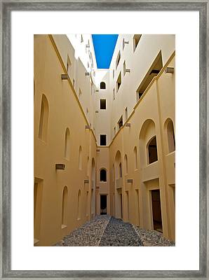 Courtyard Framed Print by Mike Horvath