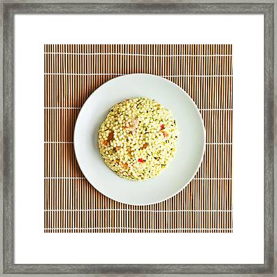 Cous Cous Salad Framed Print by Tom Gowanlock