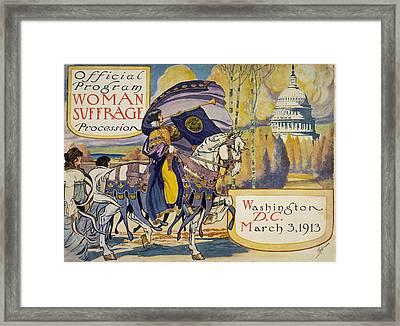 Cover Of Program For The National Framed Print by Everett