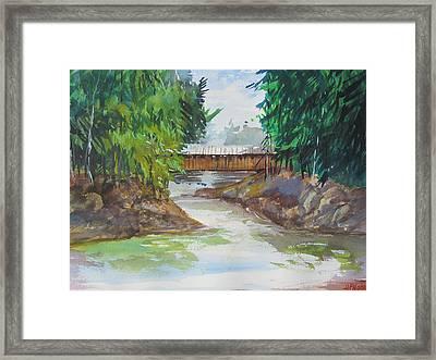 Covered Bridge Framed Print by Heidi Patricio-Nadon