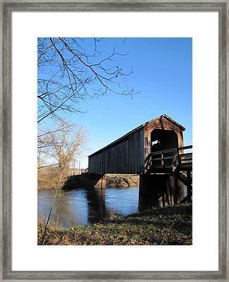 Covered Bridge Framed Print by Jimi Bush