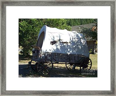 Covered Wagon Framed Print by Charles Robinson