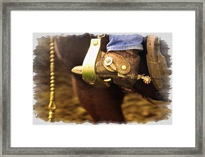 Cowboy Boot Framed Print by Carson Ganci
