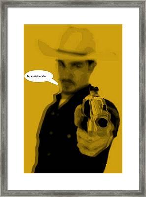 Cowboy  Framed Print by Chandler  Douglas