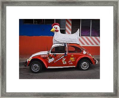 Cowboy Chicken Framed Print by Skip Hunt