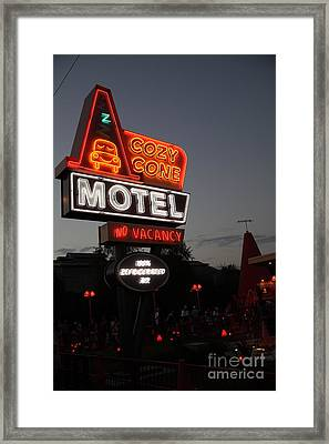 Cozy Cone Motel - Radiator Springs Cars Land - Disney California Adventure - 5d17742 Framed Print by Wingsdomain Art and Photography