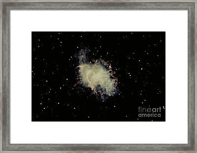 Crab Nebula Framed Print by Hale Observatories