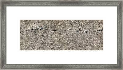 Cracks 1 Framed Print by The Art of Marsha Charlebois