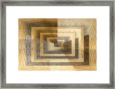 Cracks In The Veneer Framed Print by Tim Allen