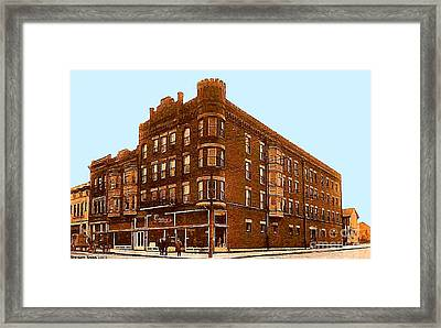 Craig And Sons Department Store In Cambridge Oh Framed Print by Dwight Goss