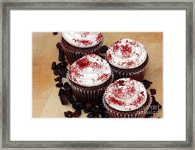 Cranberry Cupcakes Framed Print by Sophie Vigneault