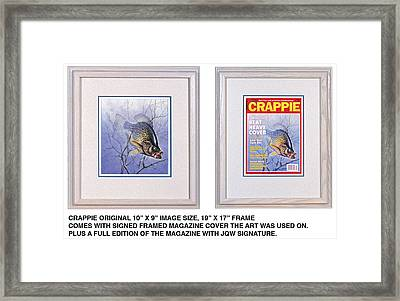 Crappie Magazine And Original Framed Print by JQ Licensing