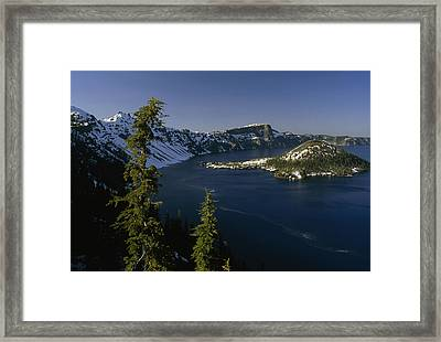 Crater Lake From Inspiration Point Framed Print by Phil Schermeister